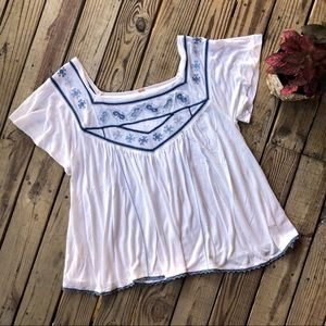 🎉2 for $10🎉Free People White Top size m
